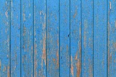 Photo pour The old blue wood texture with natural patterns. - image libre de droit