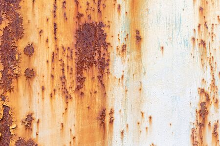 Photo pour Old painted metal texture with traces of rust and cracks. - image libre de droit