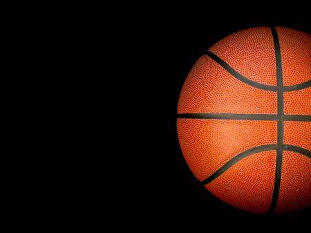 Foto de Basketball ball over black - Imagen libre de derechos