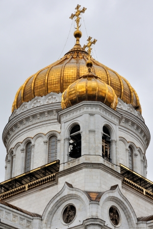 Cathedral of Christ the Savior, Moscow, Russia with cloudy sky in Autumn