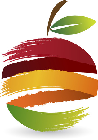 Illustration art of a fruit logo with isolated backgroundのイラスト素材