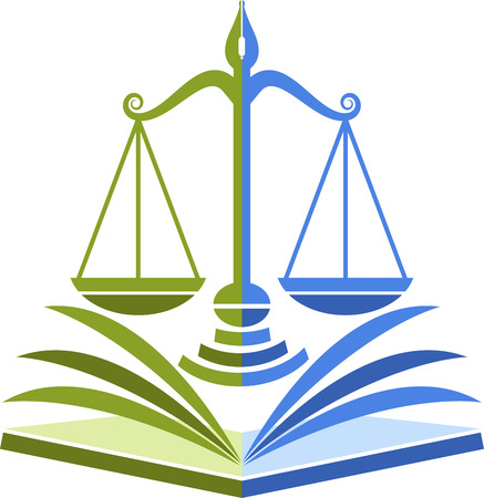 Illustration art of a law education icon with isolated background