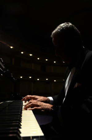 pianist playing in theater
