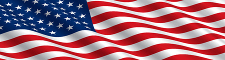 American Flag Flowing