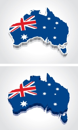 Free 3d Map Of Australia.Digitally Rendered 3d Flag Map Of Australia Royalty Free Vector