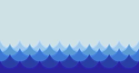 Ilustración de Horizontal stylized seamless wave illustration - Imagen libre de derechos
