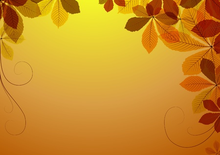 Abstract  background with autumn leaves. Space for your text