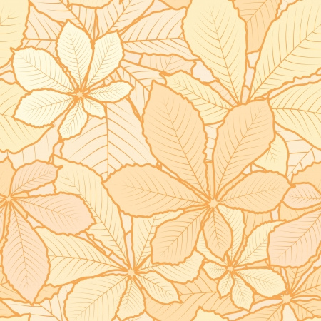 Autumn leaves light seamless pattern