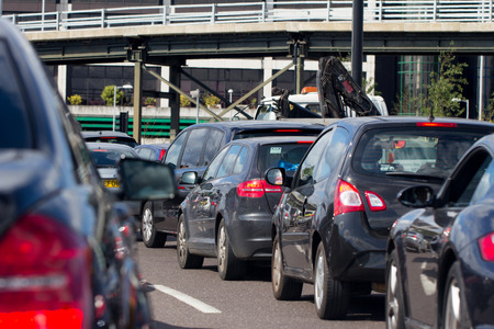 Heavy traffic on a London A road
