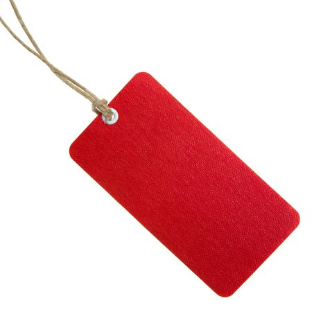 Highly Detailed Red Shopping Tag