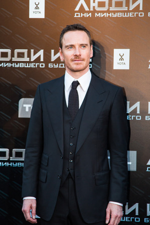 MOSCOW, RUSSIA, May, 13: Actor Michael Fassbender. Premiere of the movie X-Men, May, 13, 2014 at Rossiya Cinema in Moscow, Russia