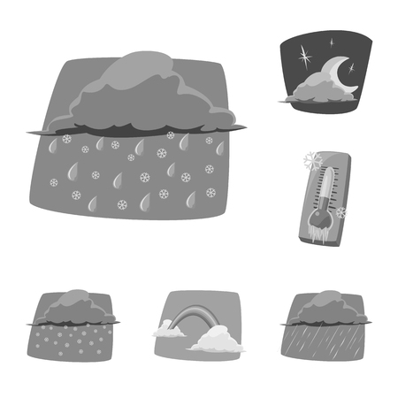 Vector illustration of weather and climate icon. Collection of weather and cloud stock symbol for web.のイラスト素材
