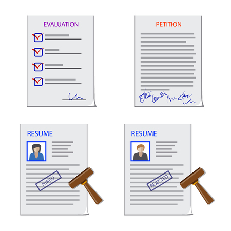 Vector illustration of form and document symbol  Set of form and