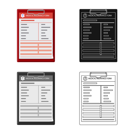 Vector illustration of form and document icon. Collection of form and mark stock vector illustration.