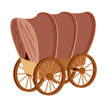 Illustration pour Vector design of stagecoach and wagon icon. Set of stagecoach and ride stock vector illustration. - image libre de droit