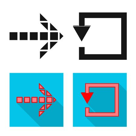 Illustration pour Vector illustration of element and arrow icon. Collection of element and direction vector icon for stock. - image libre de droit