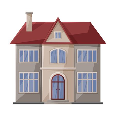 Illustration for Villa of house vector icon.Cartoon vector icon isolated on white background villa of house . - Royalty Free Image