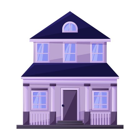 Illustration for Building of apartment vector icon.Cartoon vector icon isolated on white background building of apartment. - Royalty Free Image