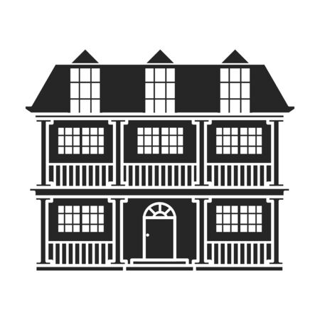 Illustration for Building of apartment vector icon.Black,simple vector icon isolated on white background building of apartment. - Royalty Free Image