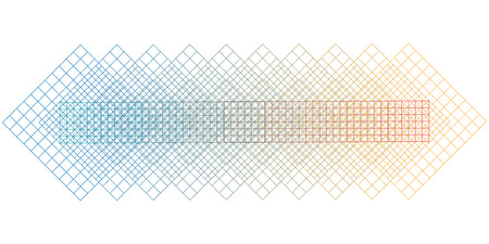 vector horizontal illustration of grids and squares with overlapping different colors for light subtle backgrounds