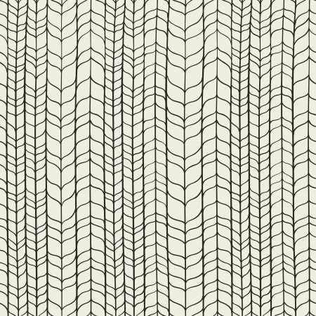 Seamless hand drawn whicker pattern illustration