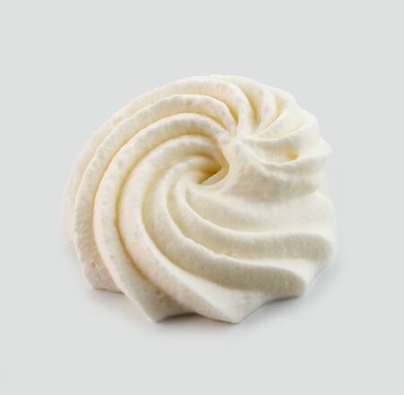 Photo for whipped cream isolated on light grey background - Royalty Free Image