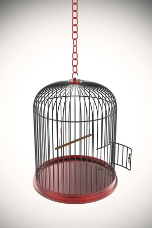 Photo for Open bird cage, 3d rendered image - Royalty Free Image