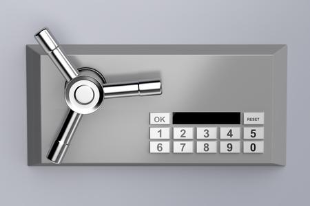 Photo pour Bank safe with digital lock - image libre de droit
