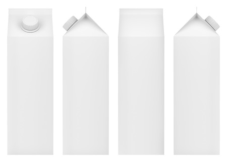 Foto für Blank packaging for milk, juice or other beverages. Front, back and side view. - Lizenzfreies Bild
