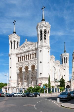 Lyon, Rhone-Alpes, France - May 19: Basilica of Notre Dame de Fourviere