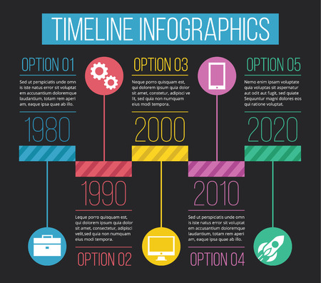 Vector Timeline Infographics 04