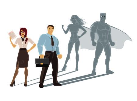 Illustration pour Vector super business people illustration - image libre de droit