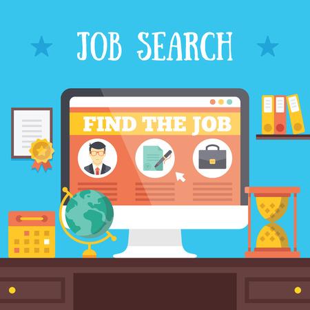 Illustration pour Job search illustration - image libre de droit