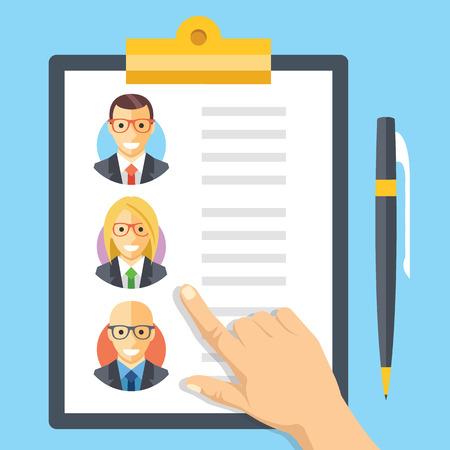 Illustration pour Human resources, employment, team management flat illustration concepts - image libre de droit