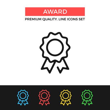 Vector award icon. Thin line icon