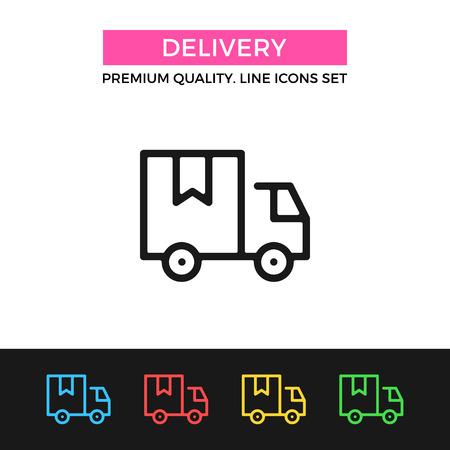 Illustration pour Vector delivery icon. Thin line icon - image libre de droit