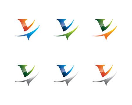 Letter V  template set of letter V  template.