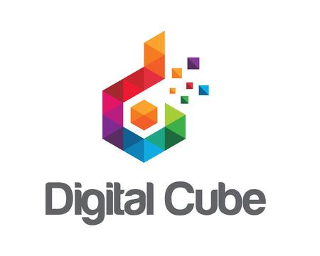 Business corporate letter D logo design vector.