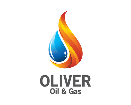 Ilustración de 3D oil and gas logo design. Colorful 3D oil and gas logo vector template. oil and gas concept with 3D style design vector. - Imagen libre de derechos