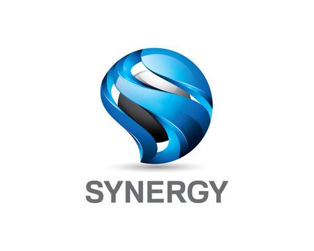 Ilustración de 3D letter S logo design. Colorful 3D letter S logo vector template. Letter S concept with 3D style design vector. - Imagen libre de derechos