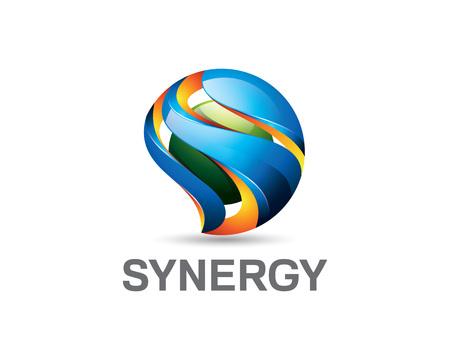 Illustration pour 3D letter S logo design. Colorful 3D letter S logo vector template. Letter S concept with 3D style design vector. - image libre de droit
