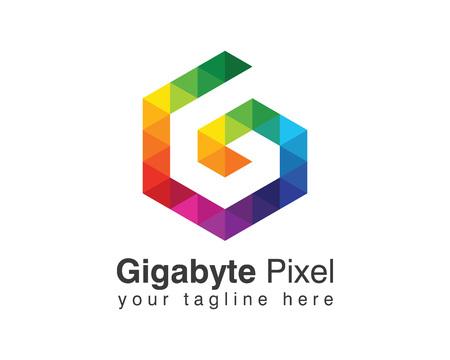 Ilustración de Letter G logo design vector. Colorful letter G logo vector template. Letter G logo global media. Digital letter G vector. - Imagen libre de derechos