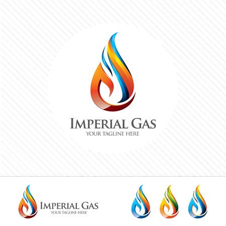 Illustration pour 3D oil and gas logo design. Colorful 3D oil and gas logo vector template. oil and gas concept with 3D style design vector. - image libre de droit