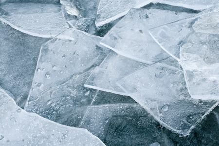 Ice fragment in close-up for background or texture