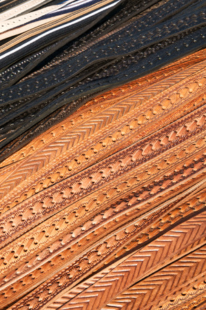 Embossed leather belts; Fashion accessories; Leather articles; Mass-produced goods of leather industry