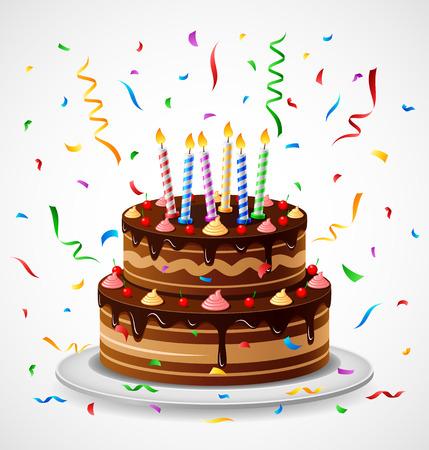 Vektor für Birthday Cake - Lizenzfreies Bild