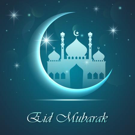 Illustration pour Eid mubarak background - image libre de droit