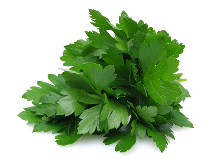 Photo pour Fresh parsley isolated on white background - image libre de droit
