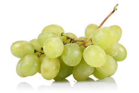 Foto für Fresh white grapes isolated on white background - Lizenzfreies Bild