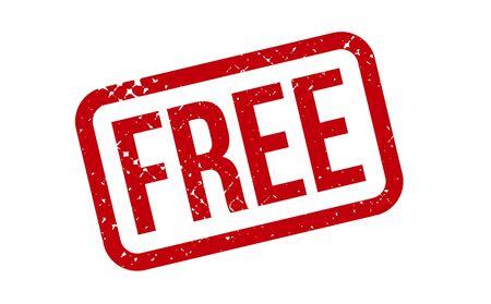 Illustration pour Free Rubber Stamp. Red Free Rubber Grunge Stamp Seal Vector Illustration - Vector - image libre de droit